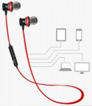 Bluetooth стерео гарнитура Awei A980 BL (black/red)