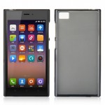 Чехол-накладка TPU cover case for Xiaomi Mi 3 (black)