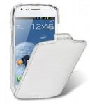 Чехол Melkco Jacka leather case for Samsung i8190 Galaxy S III Mini (white)