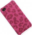Чехол-накладка Nuoku LEO stylish leather cover for iPhone 4 /4S (pink)