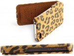 Чехол Nuoku LEO stylish leather case for iPhone 4 /4S (brown)