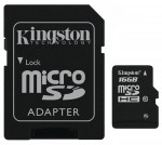 Kingston MicroSD 16Gb class 10 + adapter