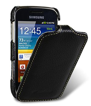 Чехол флип Melkco Jacka leather case for Samsung S6500 Galaxy Mini 2 (black)