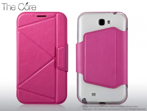 Чехол Momax The Core Smart case for Samsung N7100 Galaxy Note II (pink)