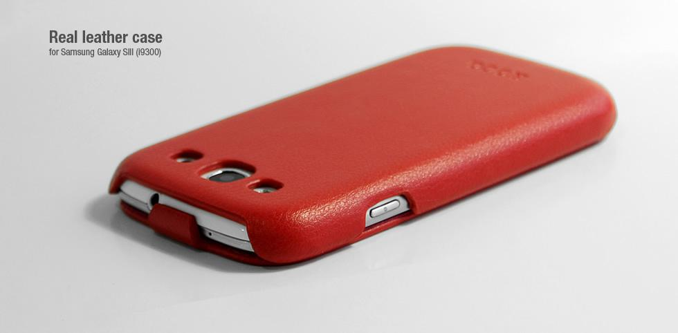 HOCO real leather case for Samsung i9300 Galaxy S III (red)