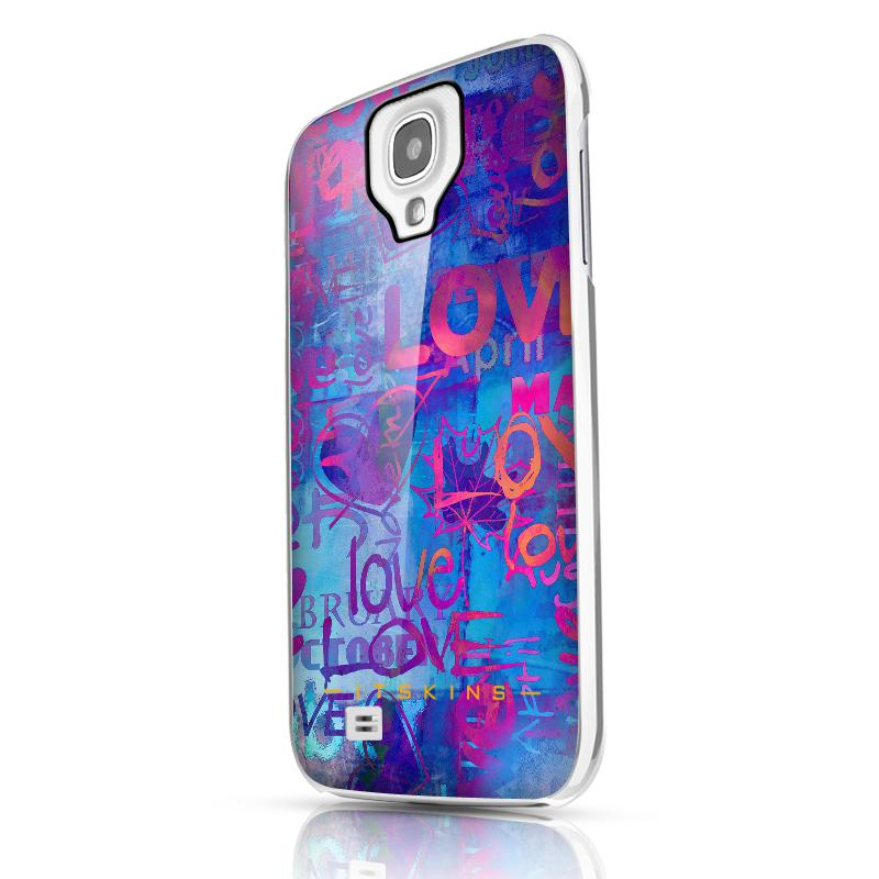 Чехол-накладка itSkins Phantom cover case for Samsung i9500 Galaxy S IV (blue)