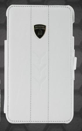 Чехол Lamborghini Aventador D1 leather back cover for Samsung i9220 Galaxy Note (white)