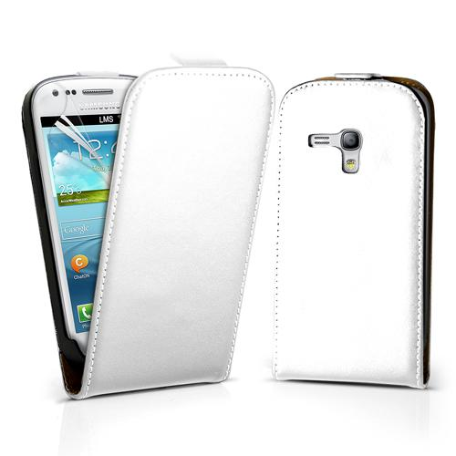 Чехол Leaf leather flip case for Samsung i8190 Galaxy S III Mini (white)