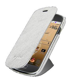 Чехол Melkco Book leather case for Samsung i8190 Galaxy S III Mini (white)