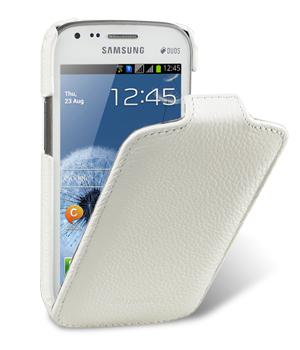 Melkco чехол-флип Jacka leather case for Samsung Galaxy S Duos S7562 (white)