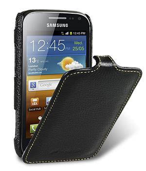 Чехол Melkco Jacka leather case for Samsung i8160 Galaxy Ace II (black)
