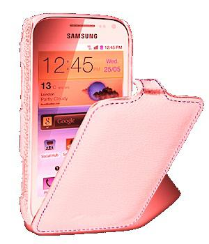Чехол Melkco Jacka leather case for Samsung i8160 Galaxy Ace II (pink)