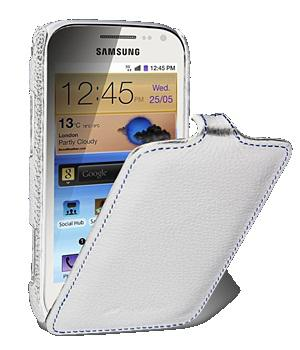 Чехол Melkco Jacka leather case for Samsung i8160 Galaxy Ace II (white)
