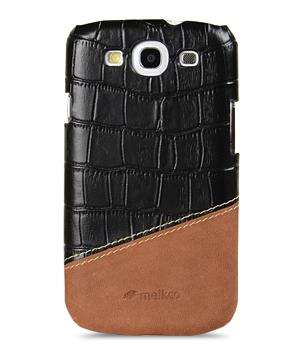 Чехол-накладка Melkco Premium Leather Snap Cover Samsung i9300 Galaxy S III Mix and Match D56 (black/brown)