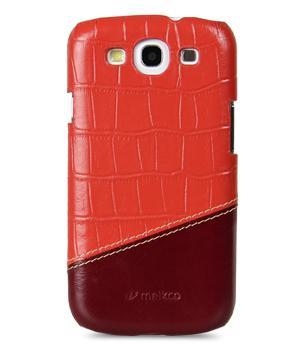 Чехол-накладка Melkco Premium Leather Snap Cover Samsung i9300 Galaxy S III Mix and Match D58 (red)