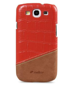Чехол-накладка Melkco Premium Leather Snap Cover Samsung i9300 Galaxy S III Mix and Match D57 (red/brown)