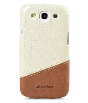 Чехол-накладка Melkco Premium Leather Snap Cover Samsung i9300 Galaxy S III Mix and Match D58 (white/brown)