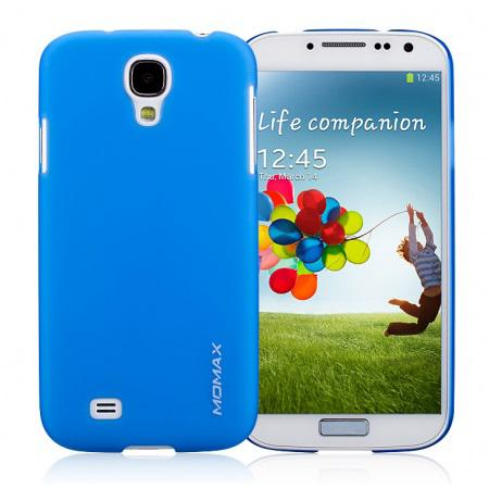 Чехол-накладка Momax Ultratough Transparent case for Samsung i9500 Galaxy S IV (blue)