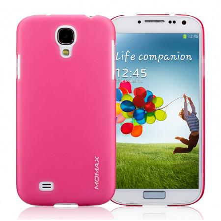 Чехол-накладка Momax Ultratough Transparent case for Samsung i9500 Galaxy S IV (pink)