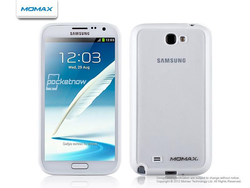 Накладка на заднюю часть Momax iCase Pro cover for Samsung N7100 Galaxy Note II (white)