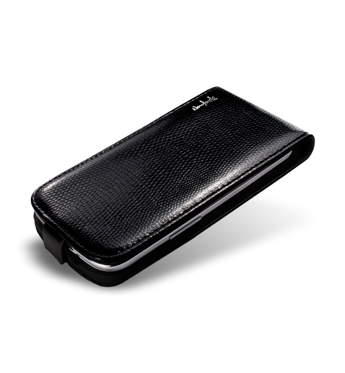 NavJack чехол-флип Vellum series flip case for Samsung i9300 Galaxy S III (chamois black)