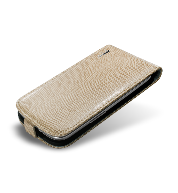 NavJack чехол-флип Vellum series flip case for Samsung i9300 Galaxy S III (sandy beige)