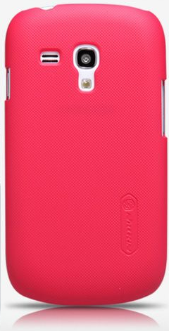 Чехол-накладка Nillkin Super Frosted Shield case for Samsung i8190 Galaxy S III Mini (red)