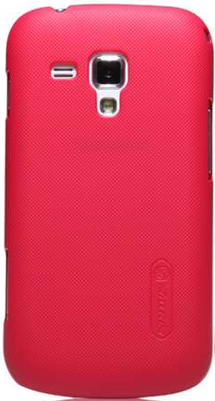 Чехол-накладка Nillkin Super Frosted Shield case for Samsung S7562 Galaxy S Duos (red)