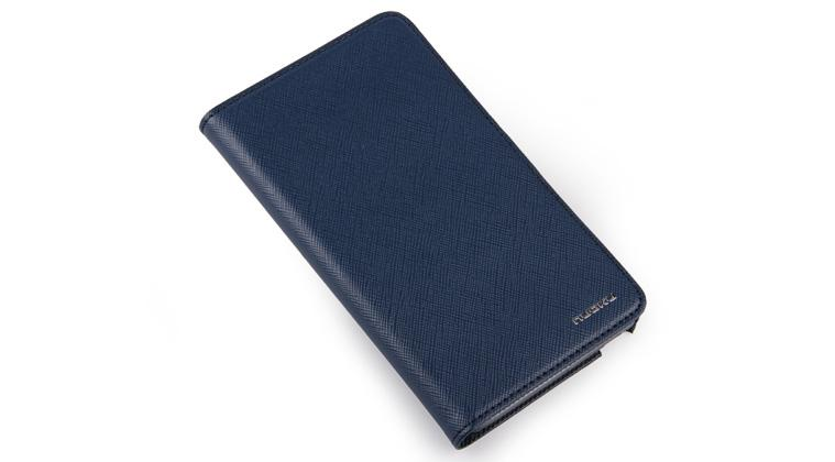 Чехол Nuoku BOOK genuine leather case for Samsung i9220 Galaxy Note N7000 (blue)