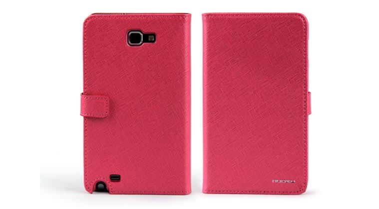 Чехол Nuoku BOOK genuine leather case for Samsung i9220 Galaxy Note N7000 (pink)