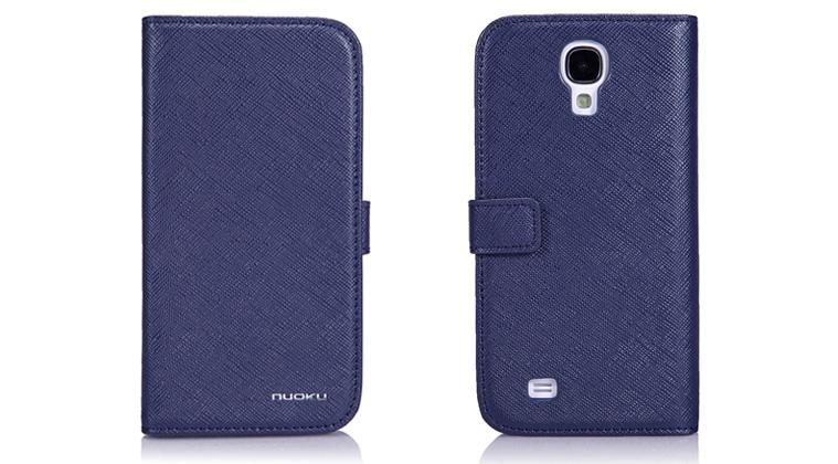 Чехол Nuoku BOOK Series Exclusive Leather Case for Samsung i9500 Galaxy S4 (blue)