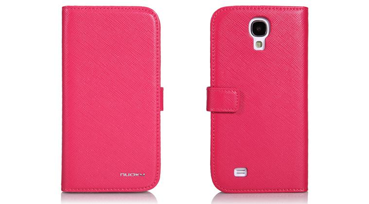 Чехол Nuoku BOOK Series Exclusive Leather Case for Samsung i9500 Galaxy S4 (pink)