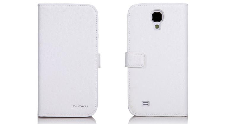 Чехол Nuoku BOOK Series Exclusive Leather Case for Samsung i9500 Galaxy S4 (white)