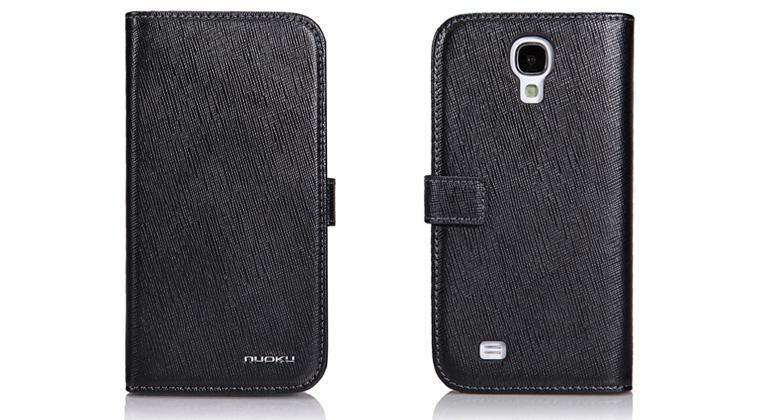 Чехол Nuoku BOOK Series Exclusive Leather Case for Samsung i9500 Galaxy S4 (black)