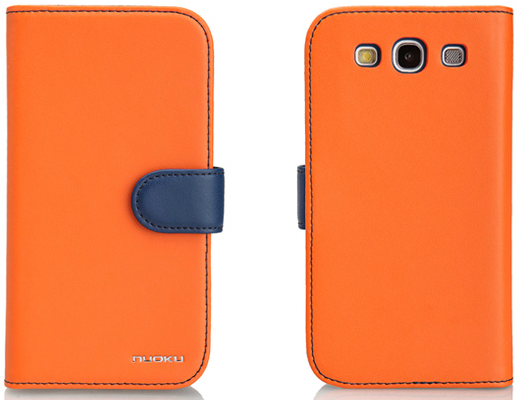 Чехол Nuoku Legend Series Exclusive Leather Case for Samsung i9300 Galaxy S III (orange)