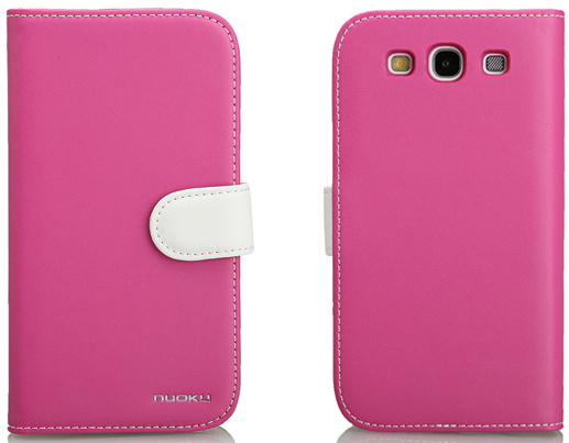 Чехол Nuoku Legend Series Exclusive Leather Case for Samsung i9300 Galaxy S III (pink)