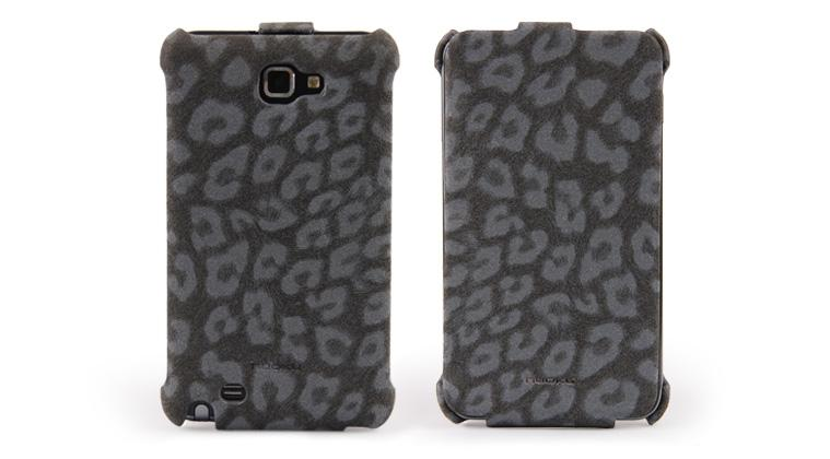 Чехол Nuoku LEO stylish leather case for Samsung i9220 Galaxy Note N7000 (black)