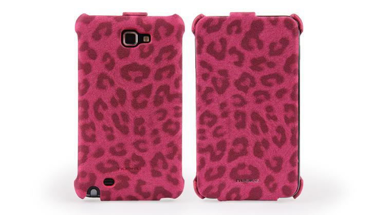 Чехол Nuoku LEO stylish leather case for Samsung i9220 Galaxy Note N7000 (pink)