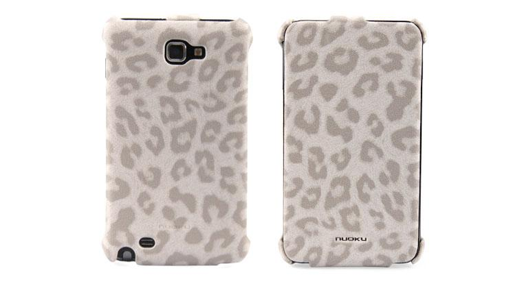 Чехол Nuoku LEO stylish leather case for Samsung i9220 Galaxy Note N7000 (white)