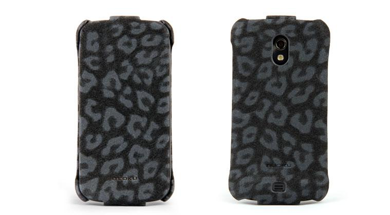 Чехол Nuoku LEO stylish leather case for Samsung i9250 Galaxy Nexus (black)