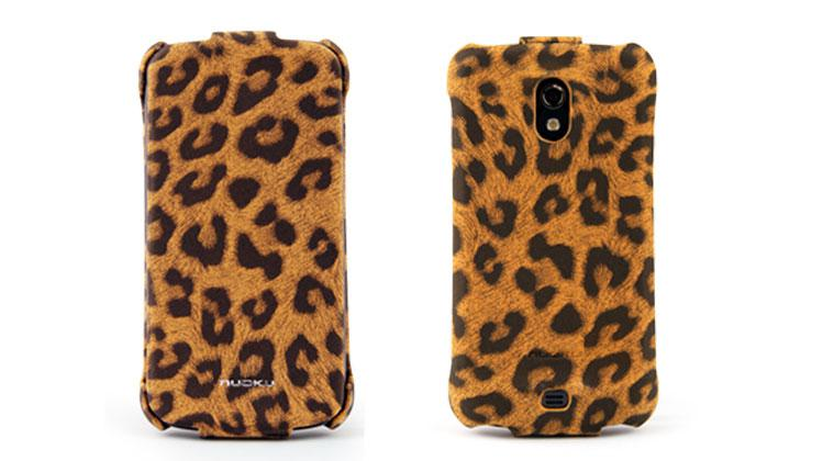 Чехол Nuoku LEO stylish leather case for Samsung i9250 Galaxy Nexus (brown)