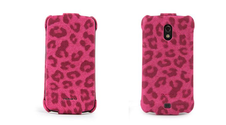 Чехол Nuoku LEO stylish leather case for Samsung i9250 Galaxy Nexus (pink)