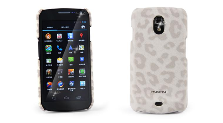 Чехол-накладка Nuoku LEO stylish leather cover for Samsung i9250 Galaxy Nexus (white)