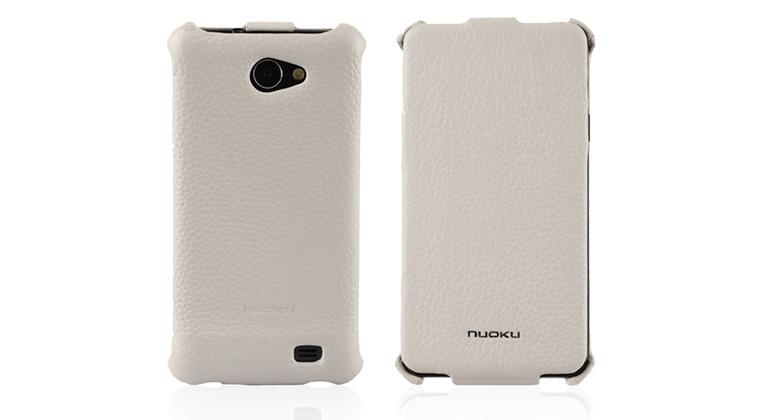 Чехол Nuoku ROYAL luxury leather case for Samsung i9103 Galaxy R (white)