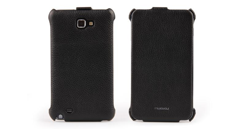 Чехол Nuoku ROYAL luxury leather case for Samsung i9220 Galaxy Note N7000 (black)