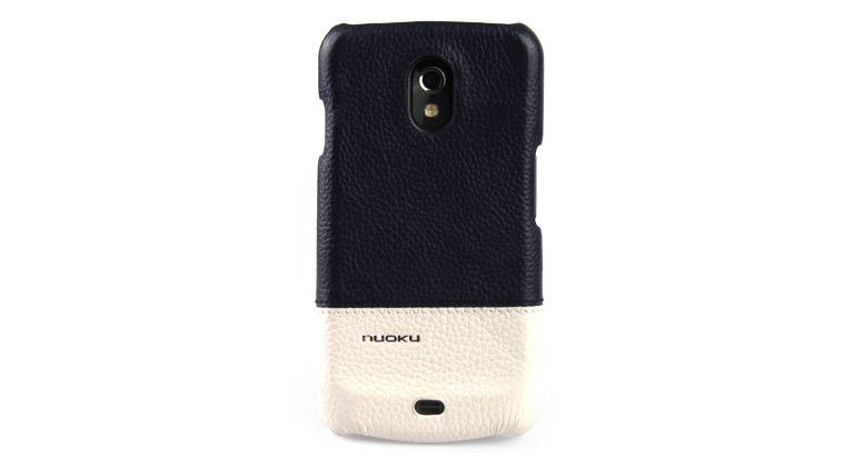 Чехол-накладка Nuoku ROYAL luxury leather cover for Samsung i9250 Galaxy Nexus (blue)