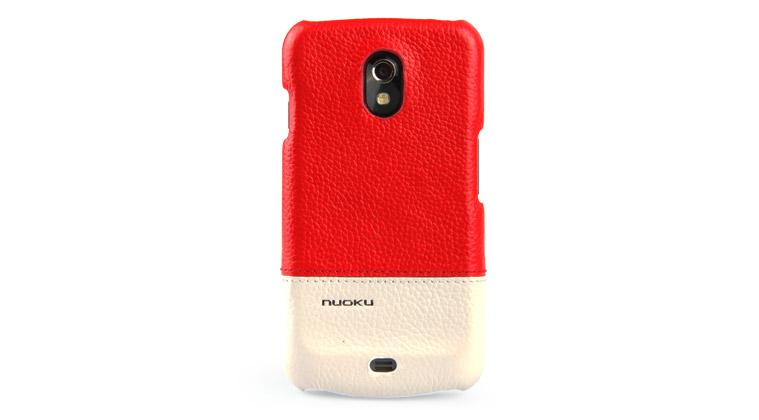 Чехол-накладка Nuoku ROYAL luxury leather cover for Samsung i9250 Galaxy Nexus (red)