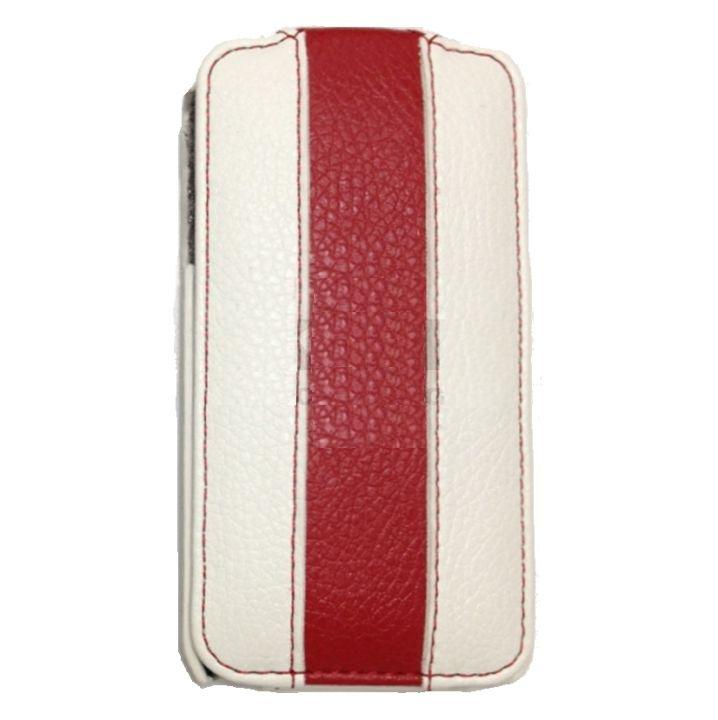 Чехол Rada leather case for Samsung S5830 Galaxy Ace (white red)