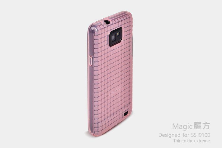 ROCK Magic cube TPU soft Case для SAMSUNG I9100 Galaxy S II Transparent (pink)
