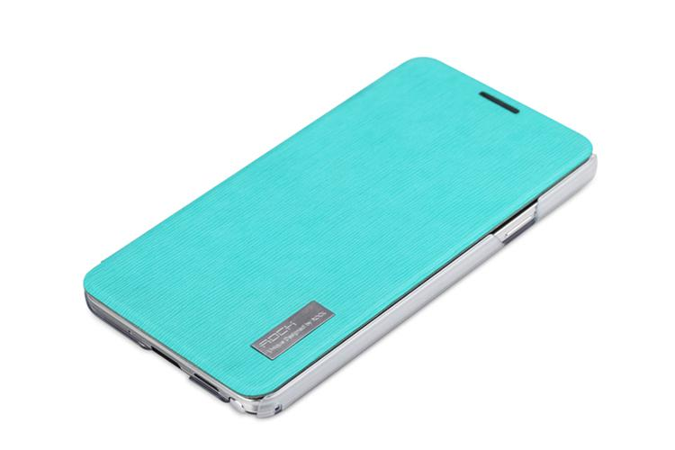 Чехол Rock New Elegant series for Samsung N9000 Galaxy Note 3 (azure)